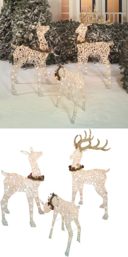 Jacket and Pants Sets 179981: 3Pc Deer Outdoor Christmas Decoration Light-Up Holiday Display Prelit 220 Bulbs -> BUY IT NOW ONLY: $103.97 on eBay!