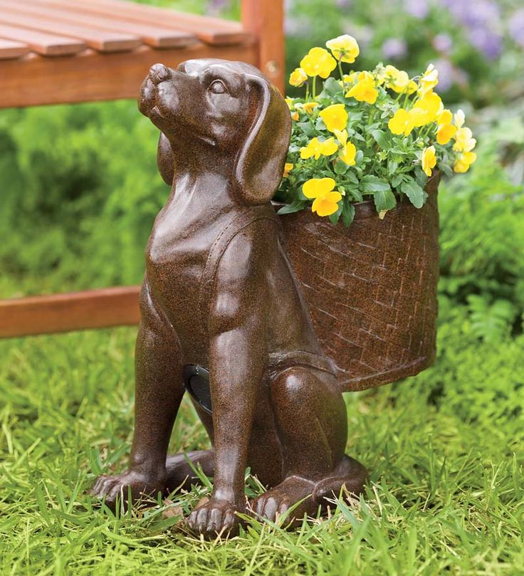 """The Woofer"" Wireless Outdoor Speaker is an easy and unique way to enjoy your music outdoors. Clever guy even doubles as a decorative planter - perfect!"