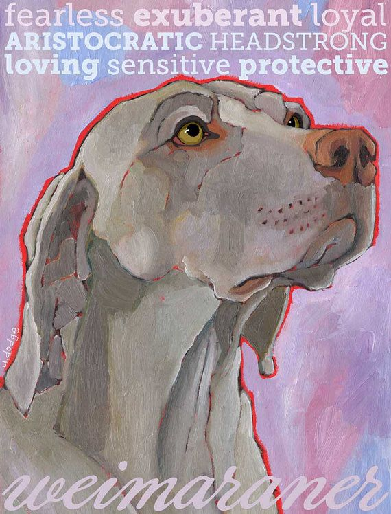 Weimaraner Magnet Coworker Gift Hostess Gift Stocking Stuffer