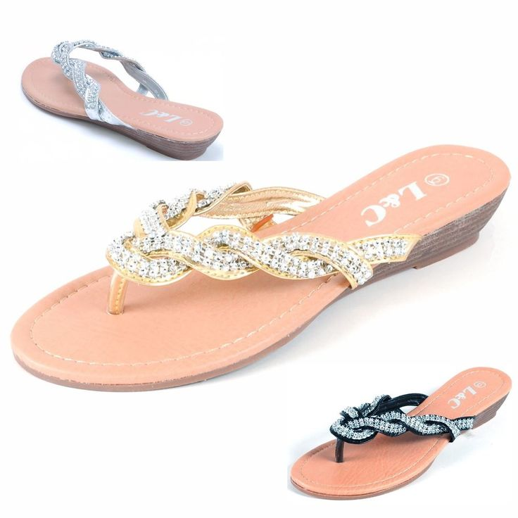 details about l c shoes womens wedge heel sandals