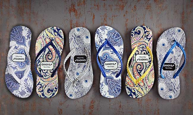 I bought Gandys flip flops because the company is ethical and the designs are gorgeous! I own the 2nd design from the left and the last pair on the right.