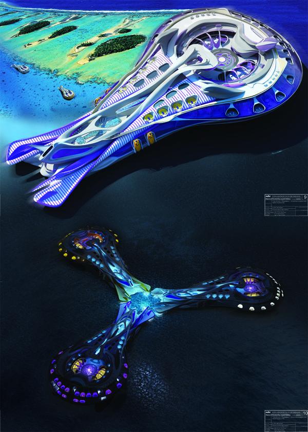 Floating Hotel for Ocean Exploration  Filip Kurzewski