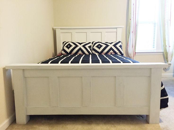 ana white full size bed frame the jocelyn diy projects - Full Size White Bed Frame
