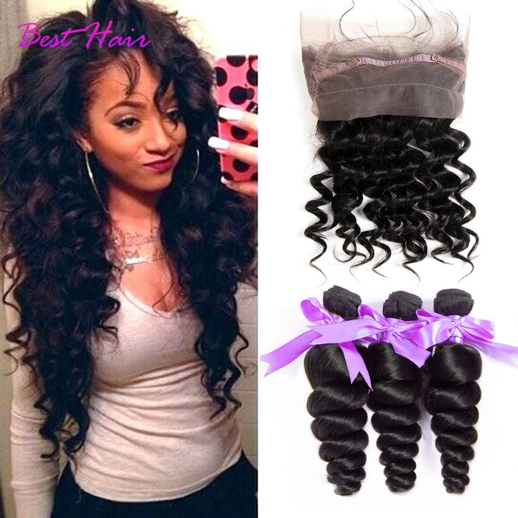 Brazilian Loose Wave 360 Lace Frontal With Bundle Loose Wave With Closure Pre Plucked 360 Frontal With Bundles Wet And Wavy Hair