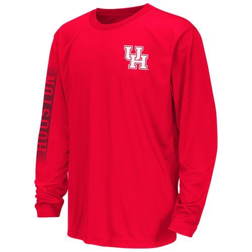 Colosseum Athletics™ Boys' University of Houston Long Sleeve T-shirt (Red, Size Medium) - NCAA Licensed Product, NCAA Youth Apparel at Academy Sports