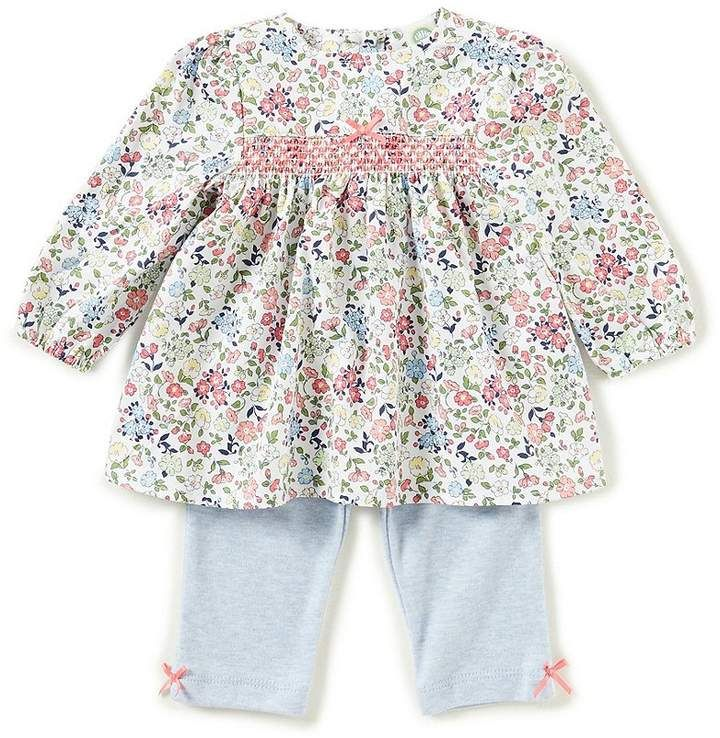 49c69851f Little Me Baby Girls 3-12 Months Floral Long-Sleeve Top & Pants Set  #chest#detail#smocking