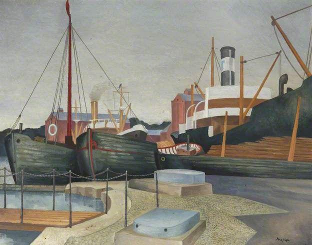 John Nash - Harbour Scene