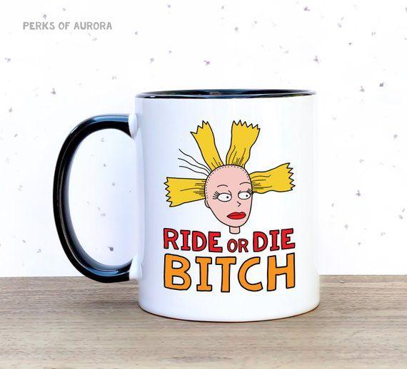 fa3ffd09aa521 Inspired by Cynthia on Rugrats- Ride or Die Bitch -11 oz. coffee mug ...