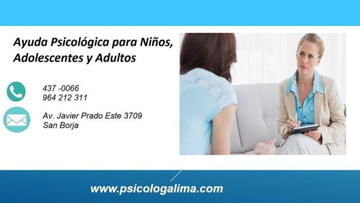 Ayuda Psicológica en Lima para niños, adolescentes y adultos.