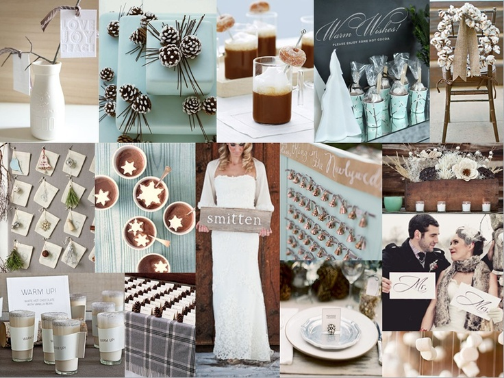Winter Wedding--hot chocolate bar (with snowflake marshmallows) seems essential.