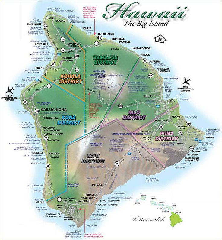 Maps Travel destination hawaii, Big island, Hawaii island
