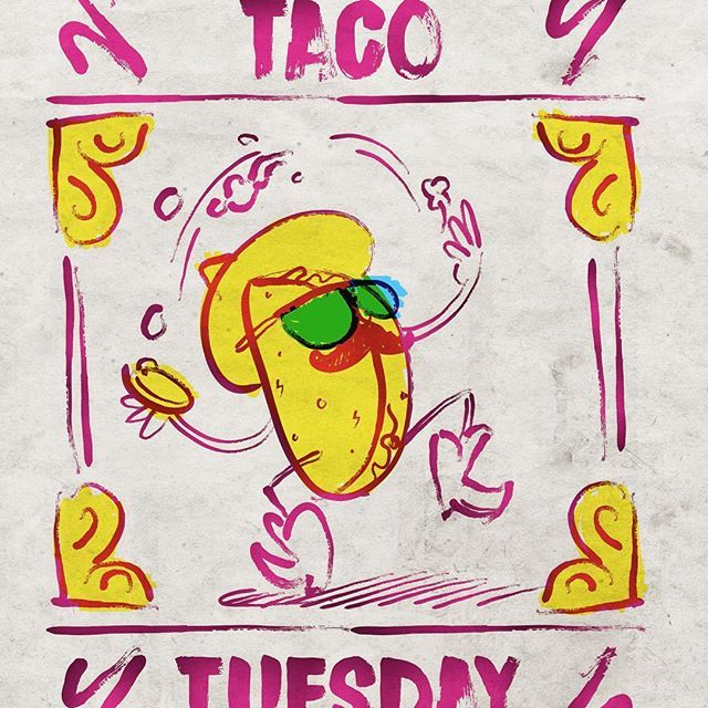Illustration by Román Vélez #tacos #tacotuesday #zeichnen #drawing #sketch #mexicanfood #mexican #mex #illustration #zkizze #tuesday