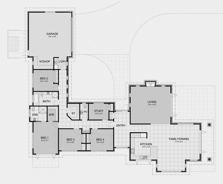 77 best L Shape house Plans images – L-Shaped House Designs And Floor Plans
