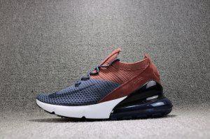 Mens Womens Nike Air Max 270 Flyknit Navy Blue Brown AO1023 004 Running  Shoes be4db75204