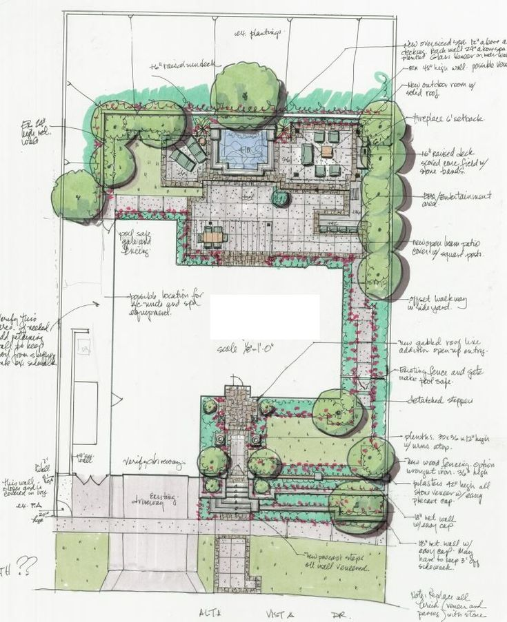 Residential landscape design drawings for Residential site plan