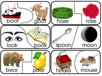 Word Puzzle Games >> Rhymes 2 Puzzle Match-30 Matches 3 Letter Families   Puzzle games, Literacy and Phonics