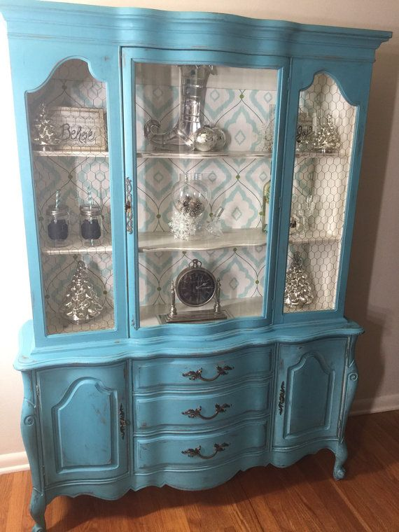 Antique China Hutch >> Vintage French Provincial China Hutch-SOLD Let me find and ...