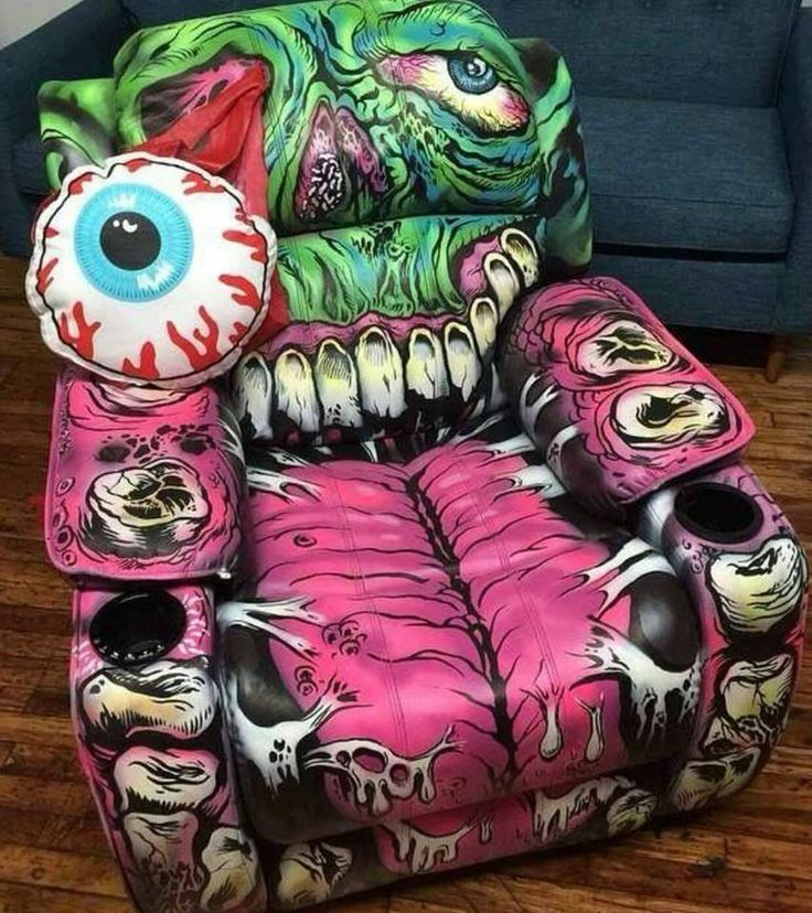 Zombie Chair 183 Hand Painted Lazy Boy From Zumiez By L