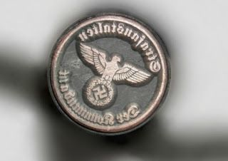 THE PRISON COMMANDER STRAFANSTALTEN DER KOMMANDANT HITLER NAZI EAGLE STAMP INK SEAL INK STAMP PRICE $39