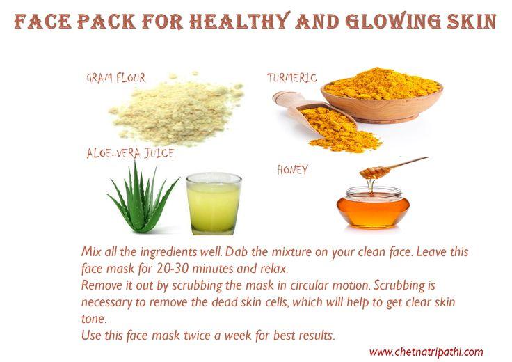 Ingredients you need- Gram flour-1 tablespoon Turmeric-1-2 pinch Honey- 1 tablespoon Aloe-Vera juice- 2 tablespoon
