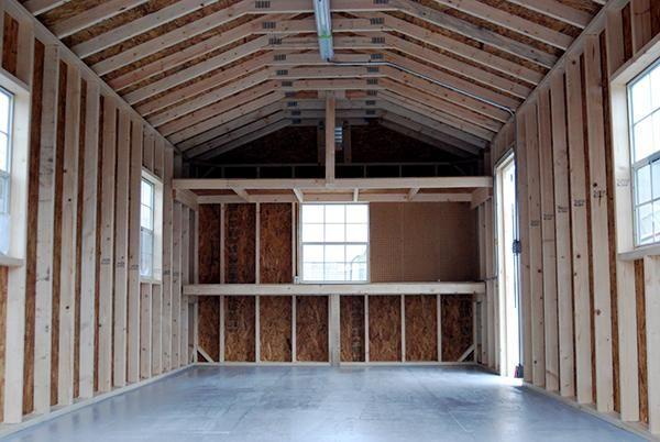 Leonard 12 X24 Hampton Vinyl Sided Wood Framed Storage Shed With Shingle Roof Fully Constru Backyard Storage Buildings Vinyl Storage Sheds Leonard Buildings