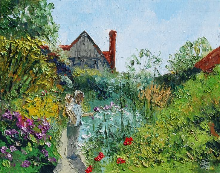Gardens At Great Dixter, Oil painting by Brian Hanson | Artfinder