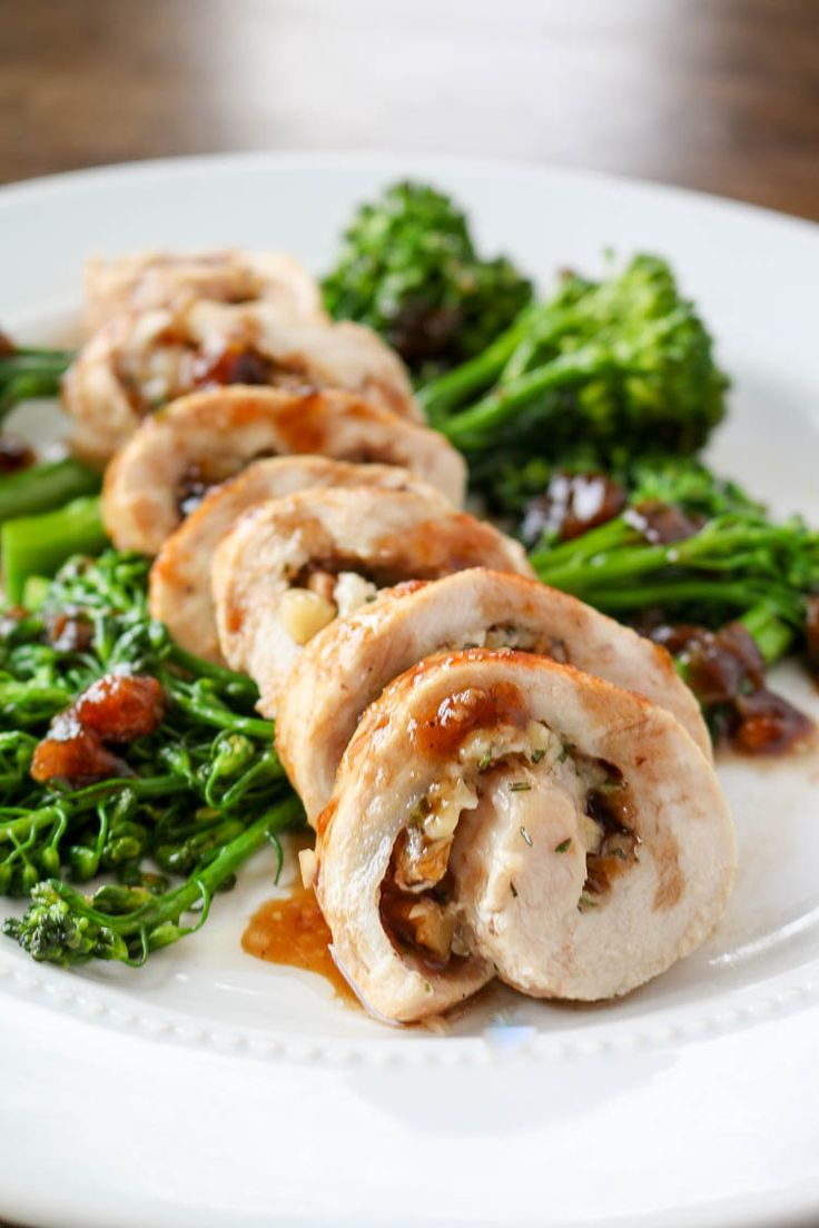 Cheddar, walnut and rosemary Chicken Roulades with Apricot Glaze