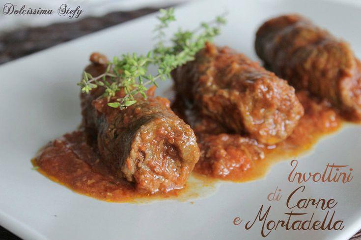 Involtini di manzo e mortadella / Beef rolls with mortadella