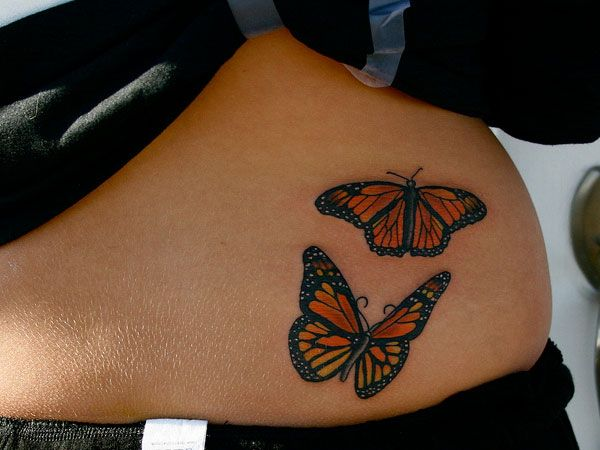 Monarch Butterfly On Flower Tattoo 25+ Best Ideas ...