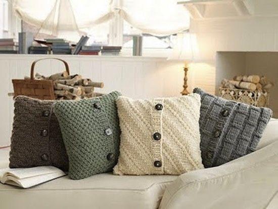 Recycling old sweaters - beautiful idea.