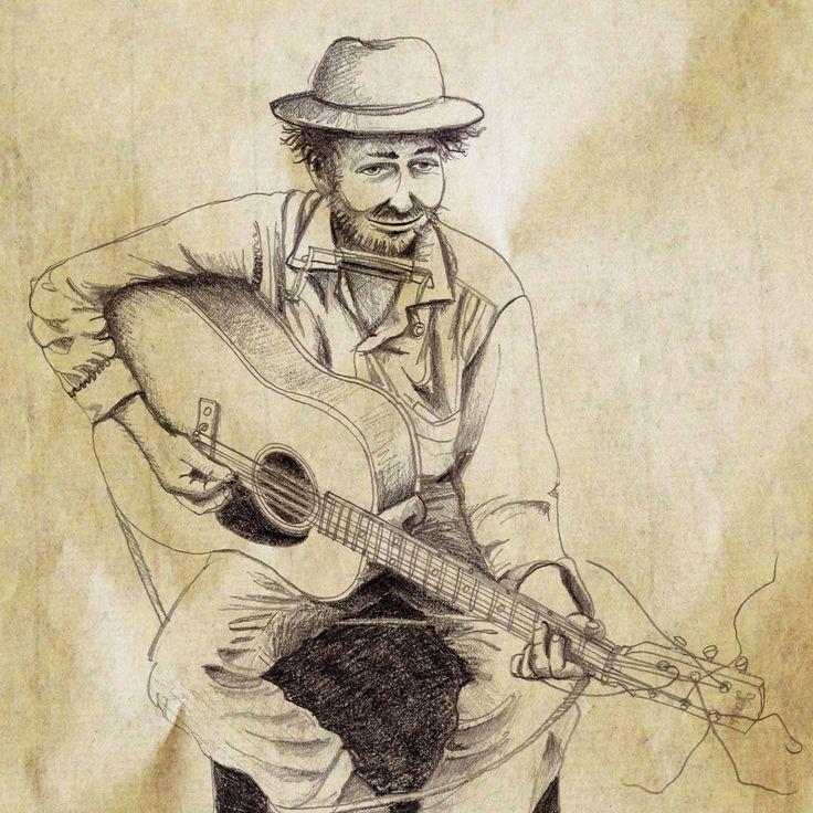 Dylan, les débuts… (crayon) ©Antoine Digout