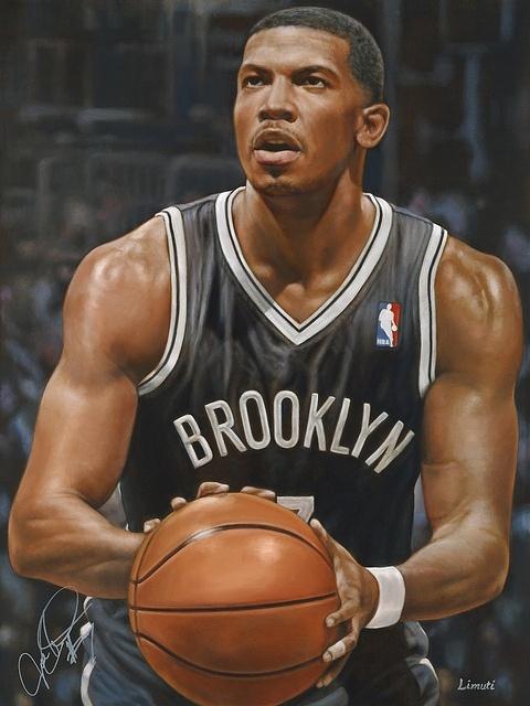 Joe Johnson of the Brooklyn Nets by Garry Limuti.