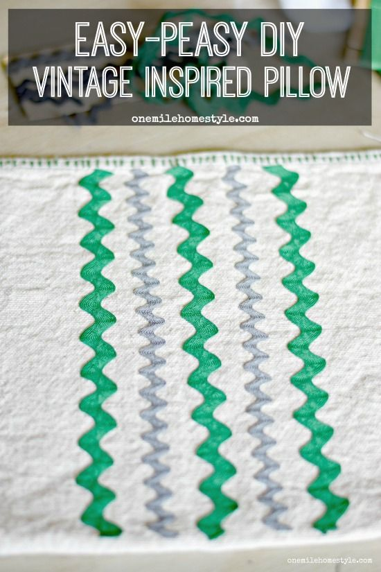 Make your own vintage inspired throw pillows with supplies you probably have in your craft stash with this easy DIY tutorial!