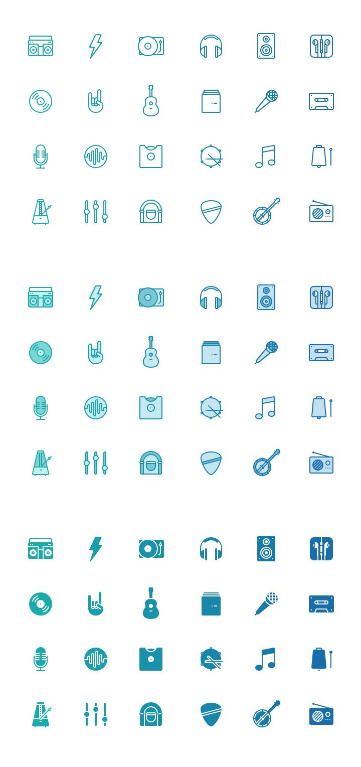 Featured freebie of this week is Musicon, a set including 24 music icons designed by Mantas Sutkus and provided in three different styles: l...