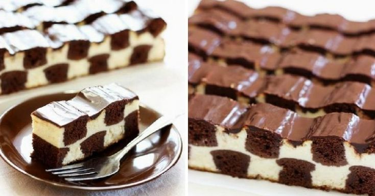 Рецепт шоколадно-творожного десерта, который помимо того, что очень вкусный, еще и выглядит как настоящий шедевр и не требует больших затрат времени.