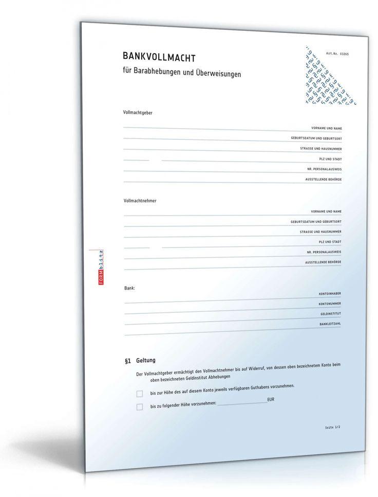 Scrollen Unsere Das Sample Von Vollmacht Bankkonto Vorlage In 2021 Vollmacht Vorlagen Businessplan Vorlage