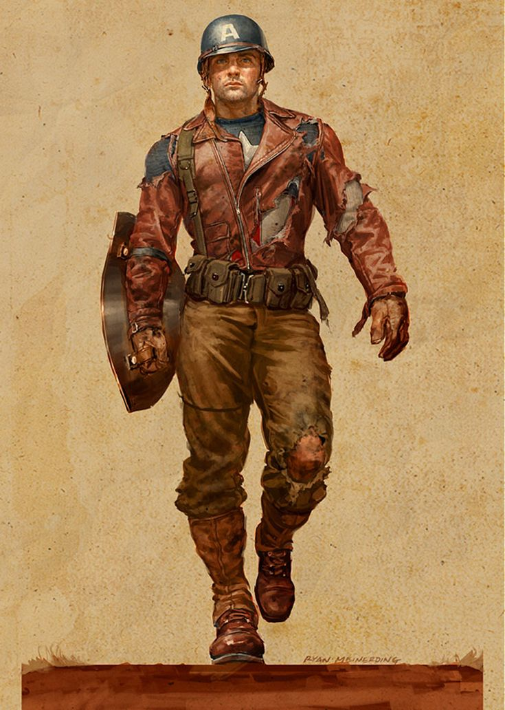 "Captain America concept character design for ""Captain America: The First Avenger"" by Ryan Meinerding"