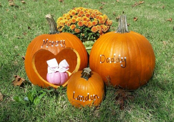 Pumpkin Gender Reveal Idea