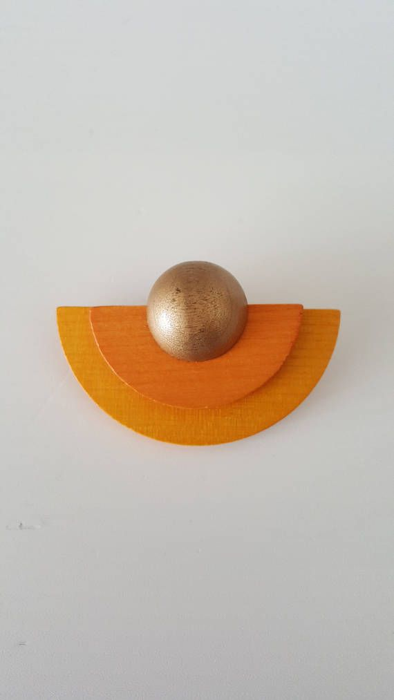 Vintage Aarikka Wooden Brooch Made in 90s