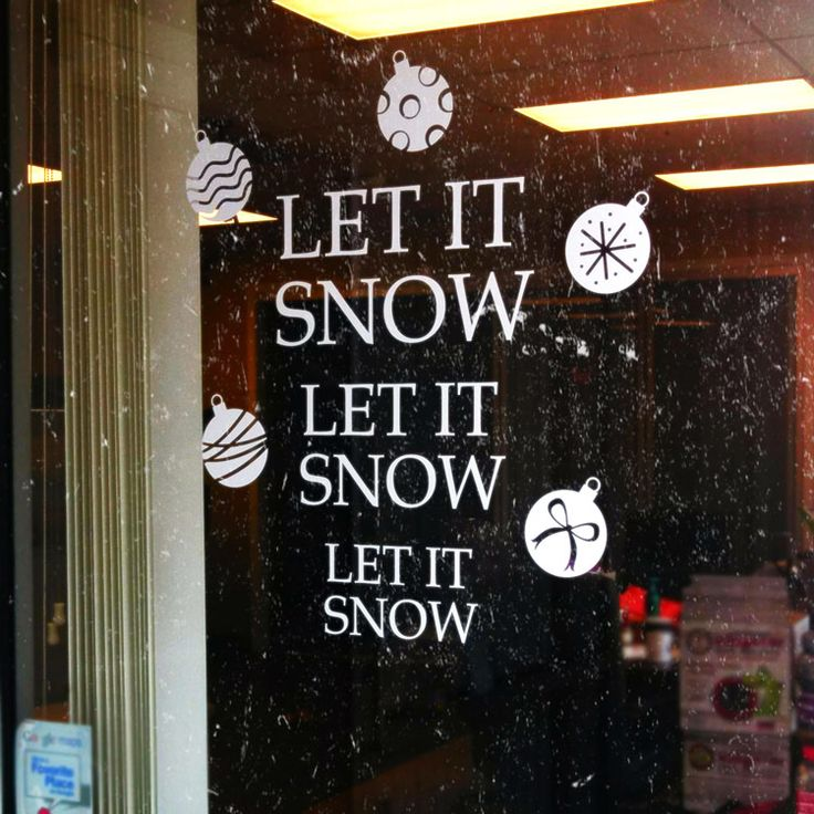 Let it Snow - Ornaments - Holiday Wall or Window Decals