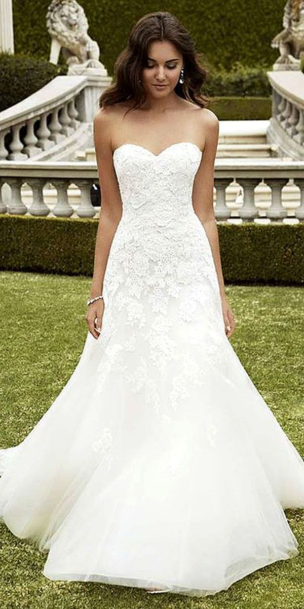25 best ideas about simple wedding gowns on pinterest for Simple wedding dresses under 200