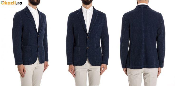 CIRCOLO 1901, Sacou Barbati SLIM FIT Denim Jacket, Material Strech Marime 50  Contact telefonic 0757.662.907 Toate produsele pe Facebook LIKE: NAZARAfashion