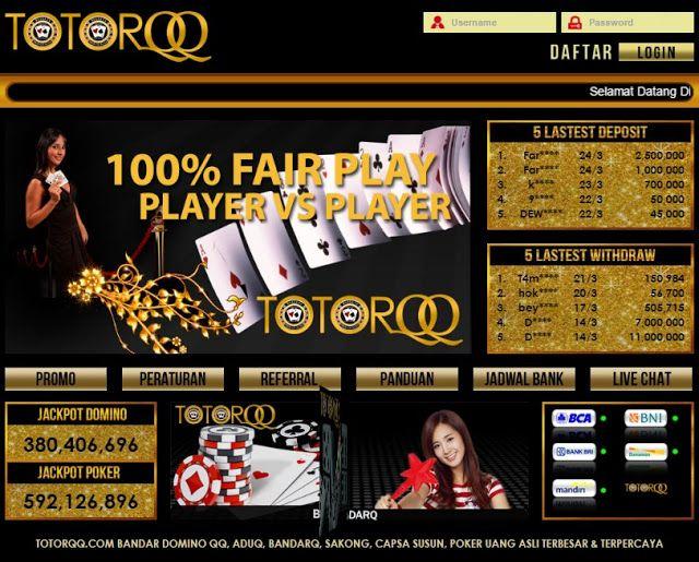 Situs Permainan Game Online Capsa Susun Di Percaya TOTORQQ | TotorQQ
