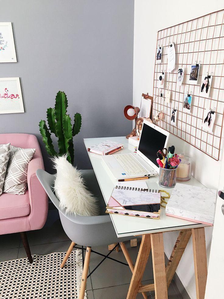 Über 25 kleine Home-Office-Ideen für Männer und Frauen (platzsparendes Layout)