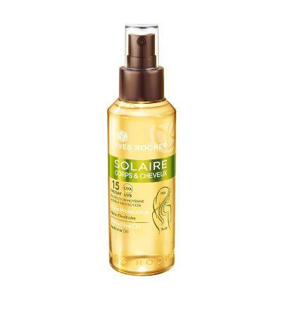 Beauty club YR : Αντηλιακό Λάδι για Μαλλιά & Σώμα SPF 15Λάδι με μετ...