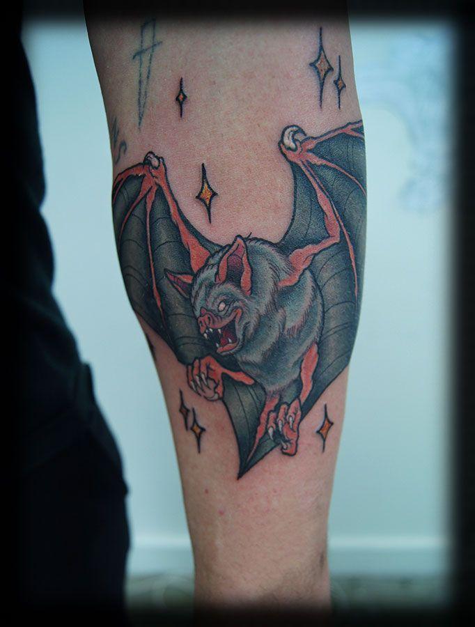 297 best bat tattoos images on pinterest bat tattoos for Bat sleeve tattoo