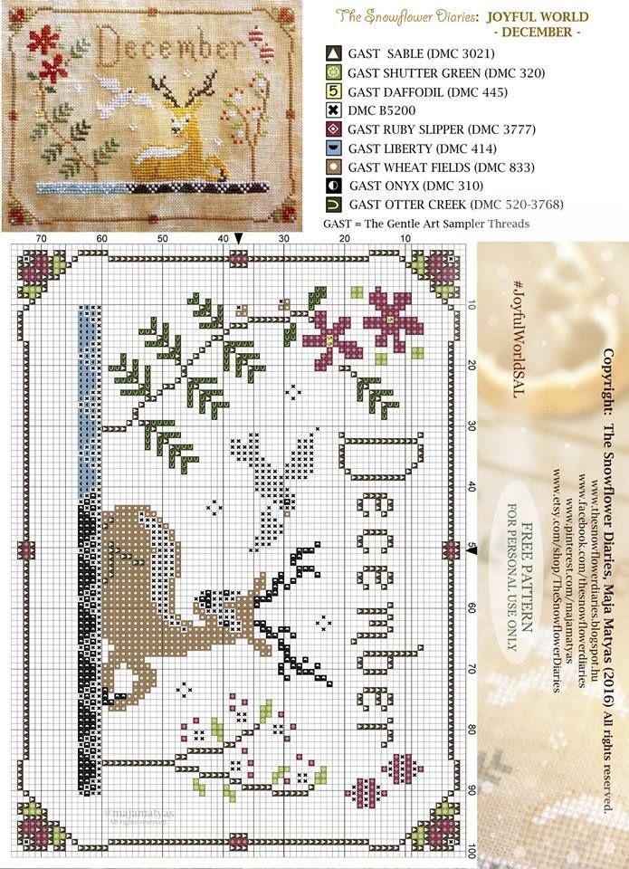 The Snowflower diaries free pattern December                                                                                                                                                                                 More