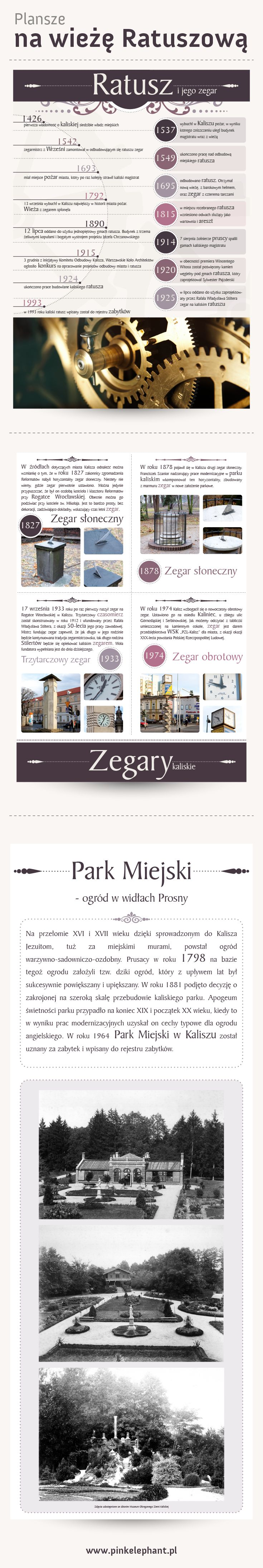 Posters of Kalisz tower | Design: www.pinkelephant.pl /posters /layout /portfolio /design