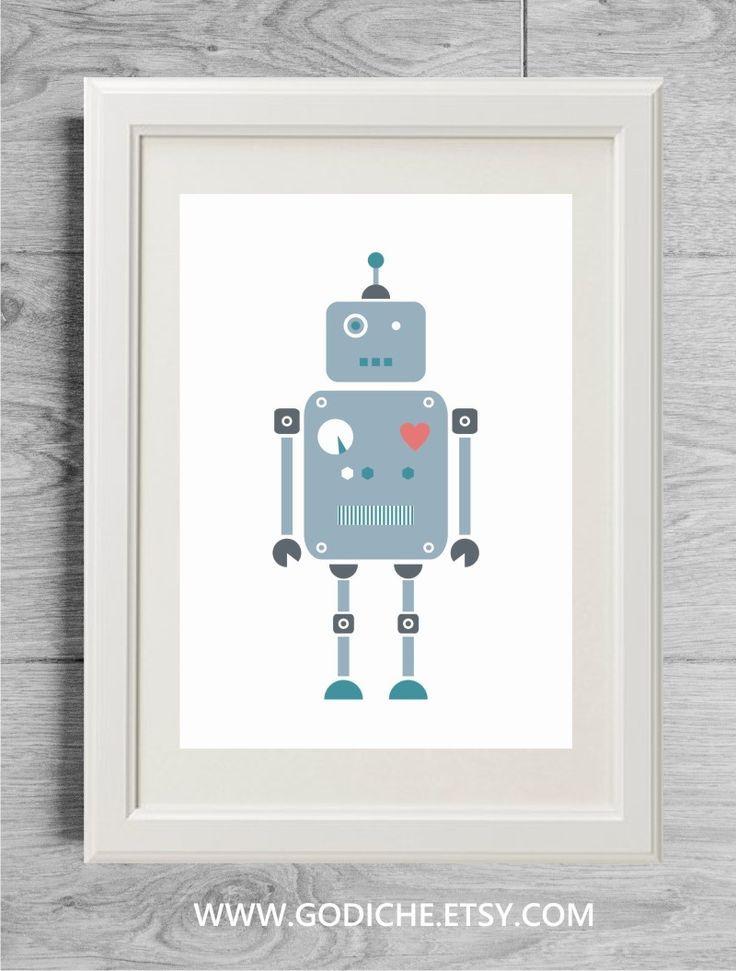 237 best nursery decor ideas images on pinterest babies for Robot baby room decor