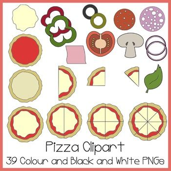Pizza Clipart Ideal For Fractions Pizzas